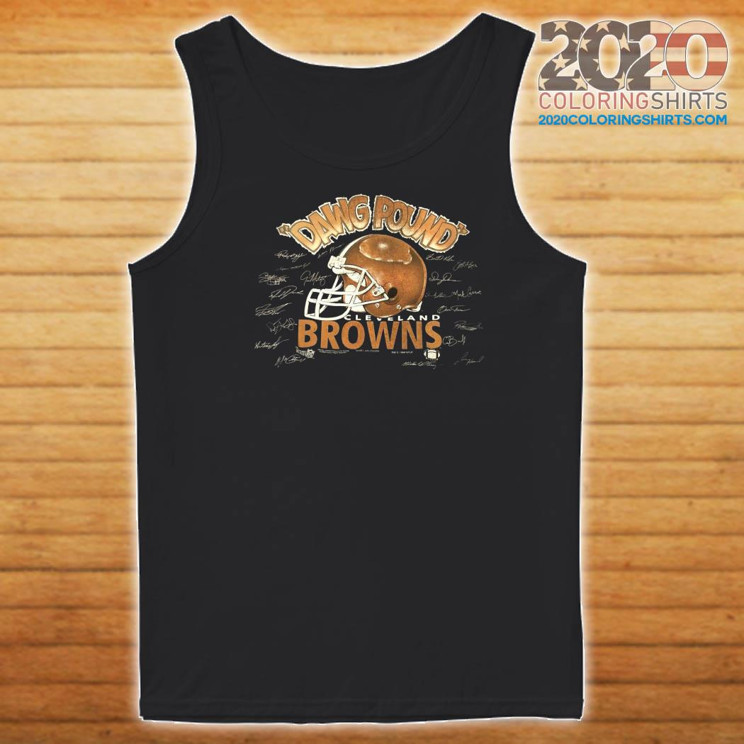 Dawg Pound Cleveland Browns Signatures Shirt Tank top