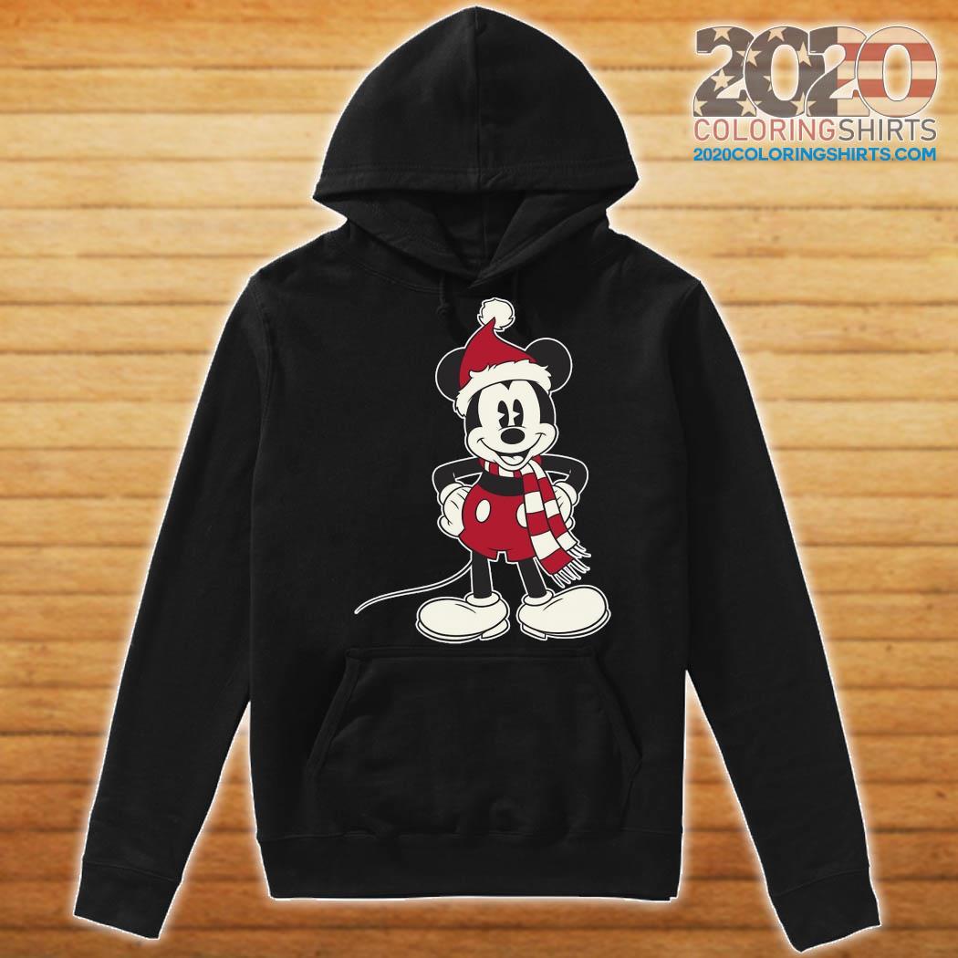Mickey Mouse Santa Hat Merry Christmas Sweats Hoodie