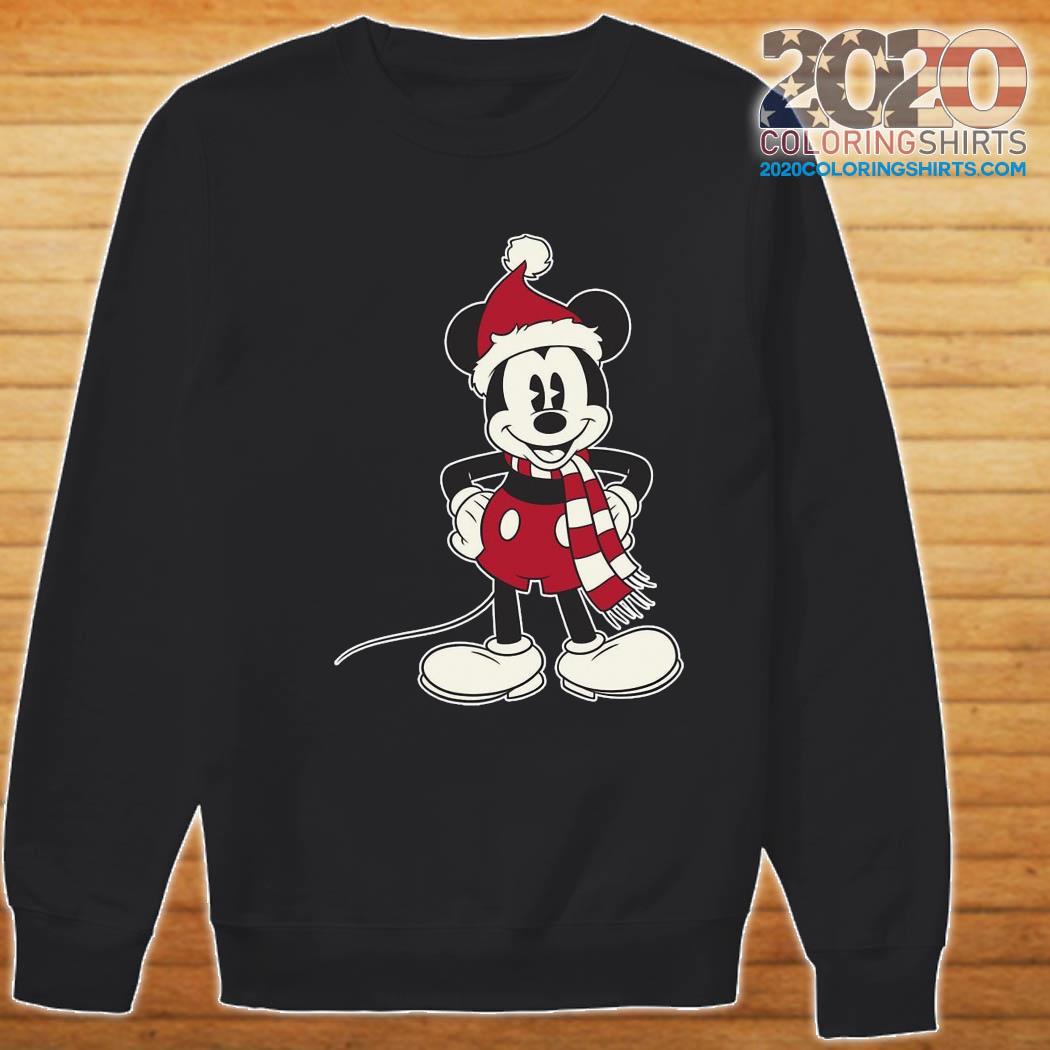 Mickey Mouse Santa Hat Merry Christmas Sweatshirt