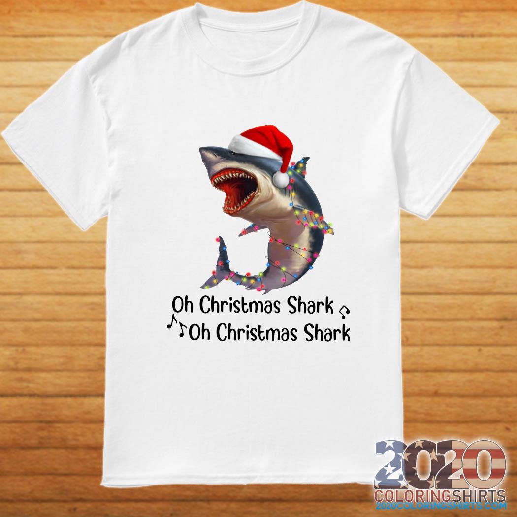 Shark Santa Light Oh Christmas Shart Oh Christmas Shark Sweatshirt