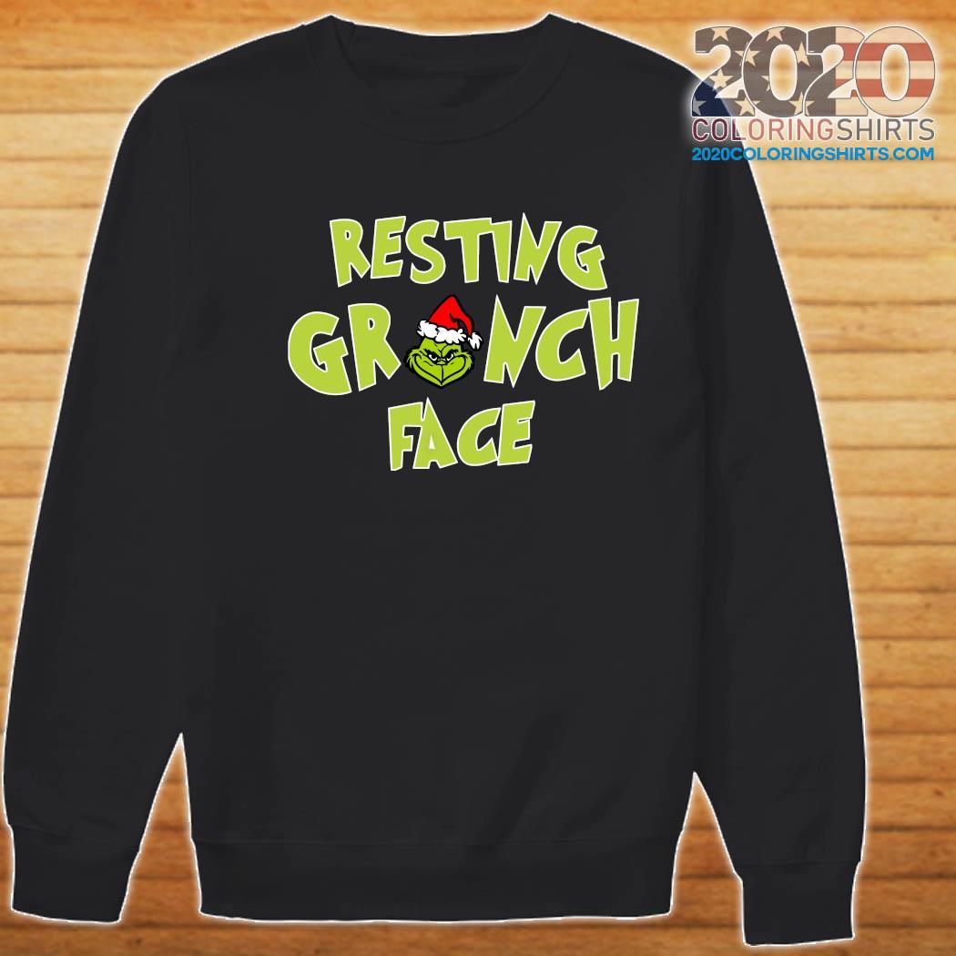 The Grinch Santa Resting Grinch Face Sweatshirt