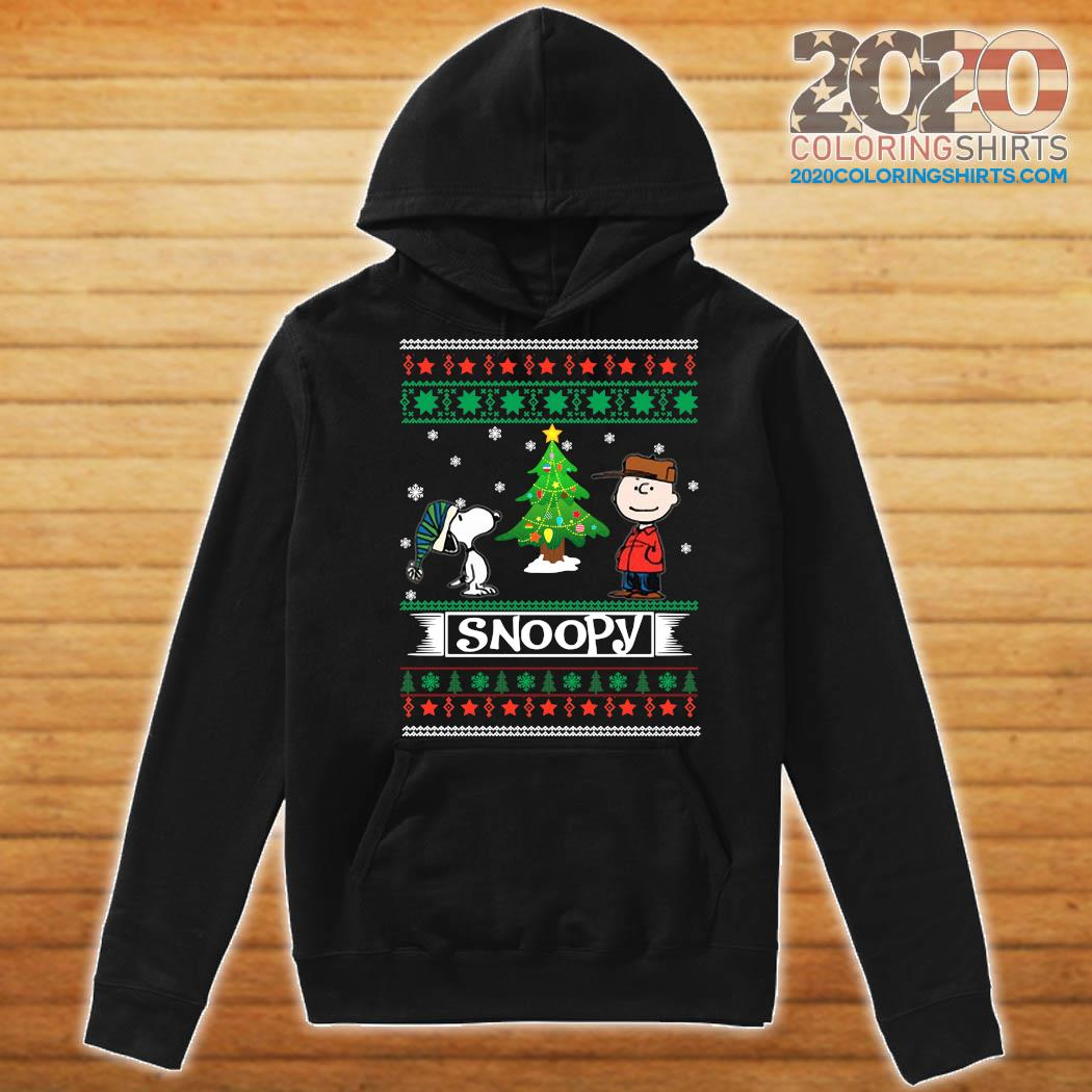 The Peanuts Charlie Brown And Snoopy Ugly Merry Christmas Tree Sweats Hoodie