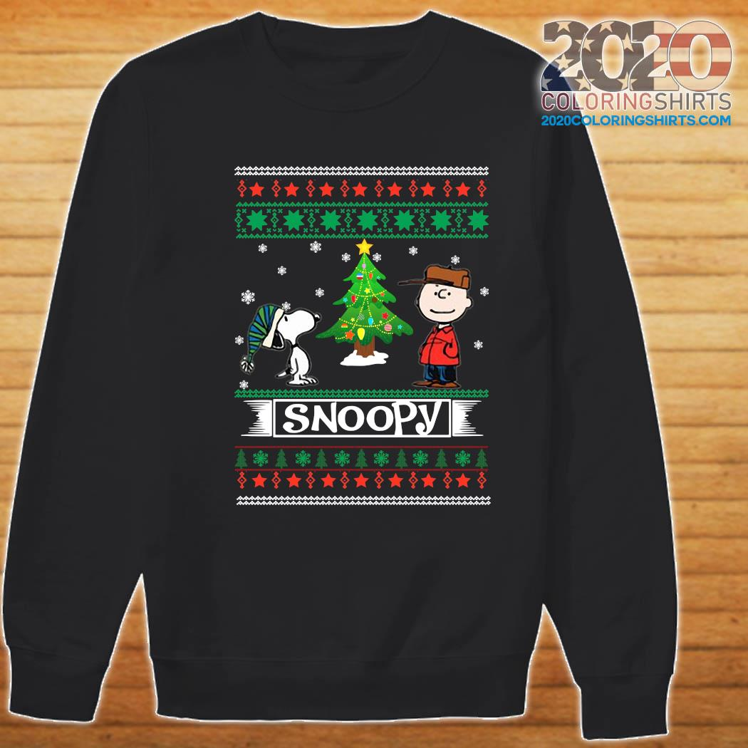 The Peanuts Charlie Brown And Snoopy Ugly Merry Christmas Tree Sweatshirt