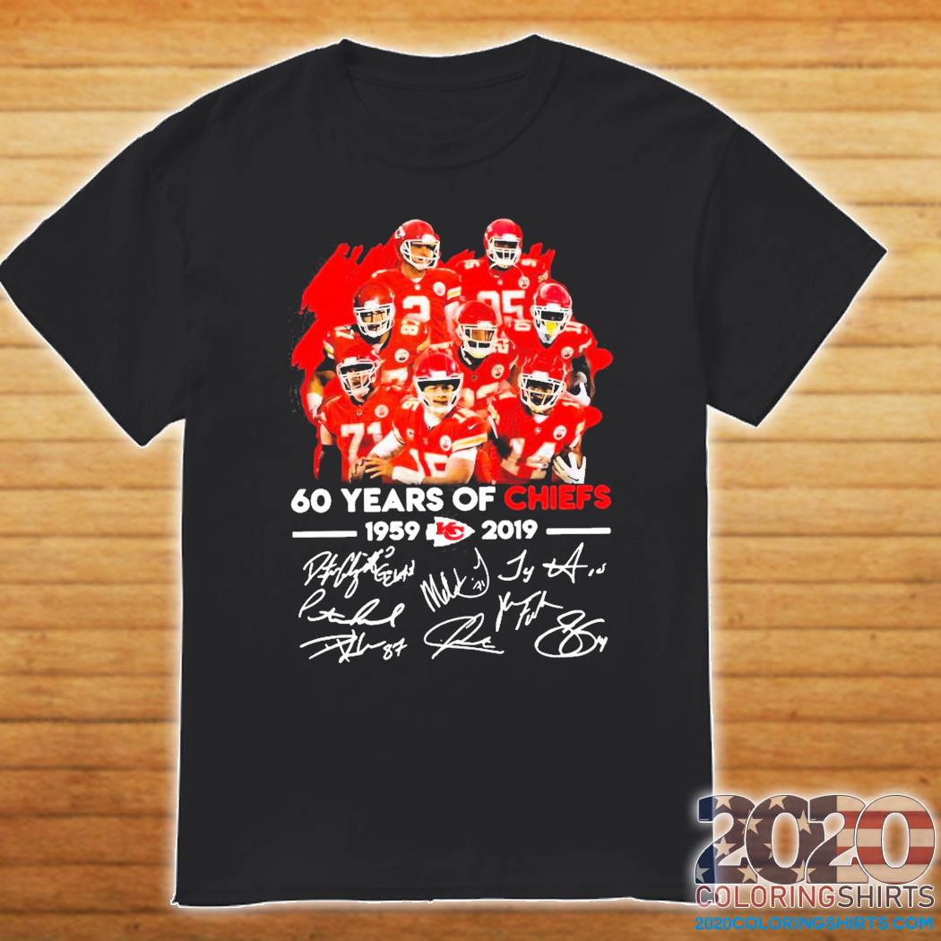 62 Years Of Kansas City Chiefs 1959-2021 Signatures Classic T-Shirt