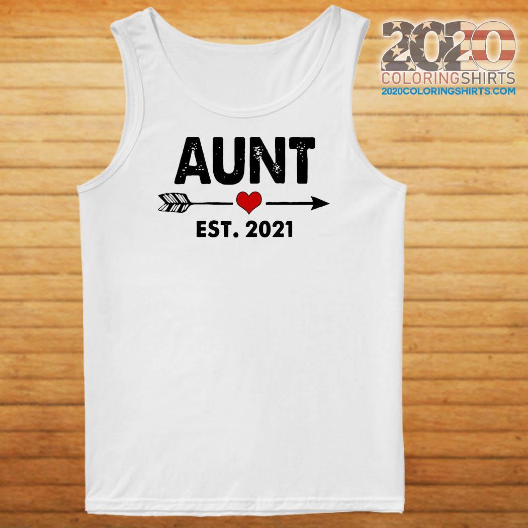 Aunt Est 2021 Heart Shirt Tank top
