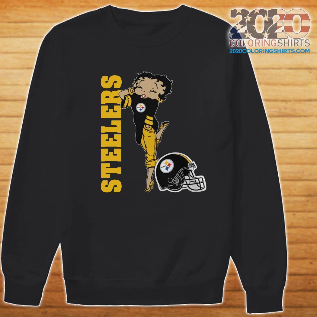 Betty Boop Pittsburgh Steelers Football Shirt Sweater