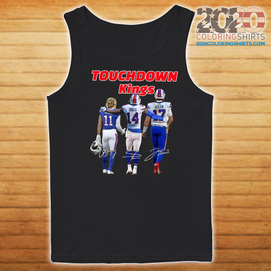 Buffalo Bills Touchdown Kings Cole Beasley 11 Stefon Diggs 14 Josh Allen 17 Signatures Shirt Tank top
