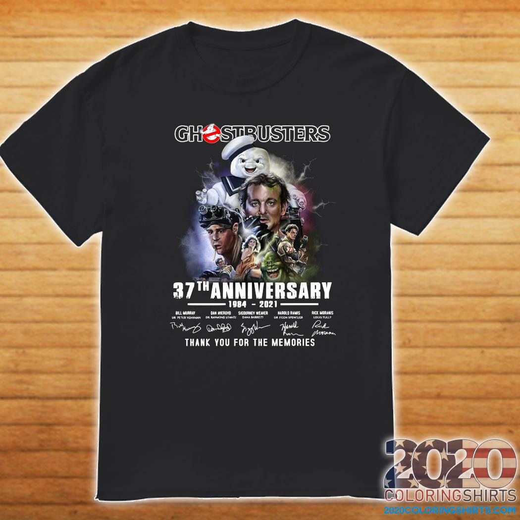 Ghostbusters 37th Anniversary 1984 2021 Thank You For The Memories Signatures Shirt