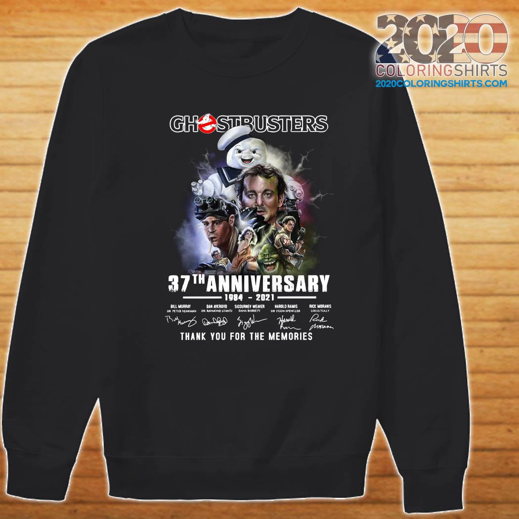 Ghostbusters 37th Anniversary 1984 2021 Thank You For The Memories Signatures Shirt Sweater