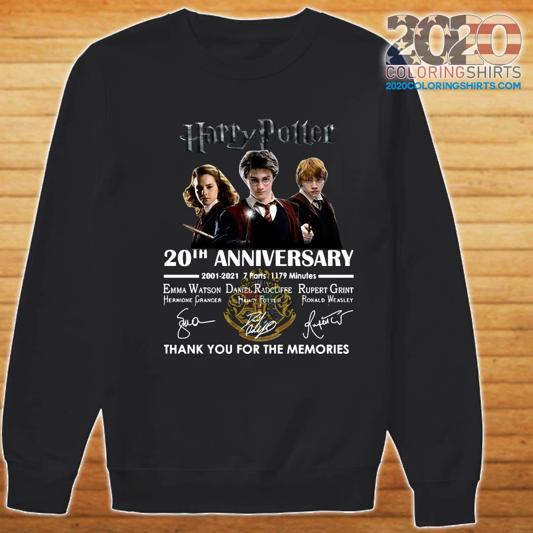 Harry Potter 20th Anniversary 2001 2021 7 Parts 1179 Minutes Thank You For The Memories Signatures Shirt Sweater