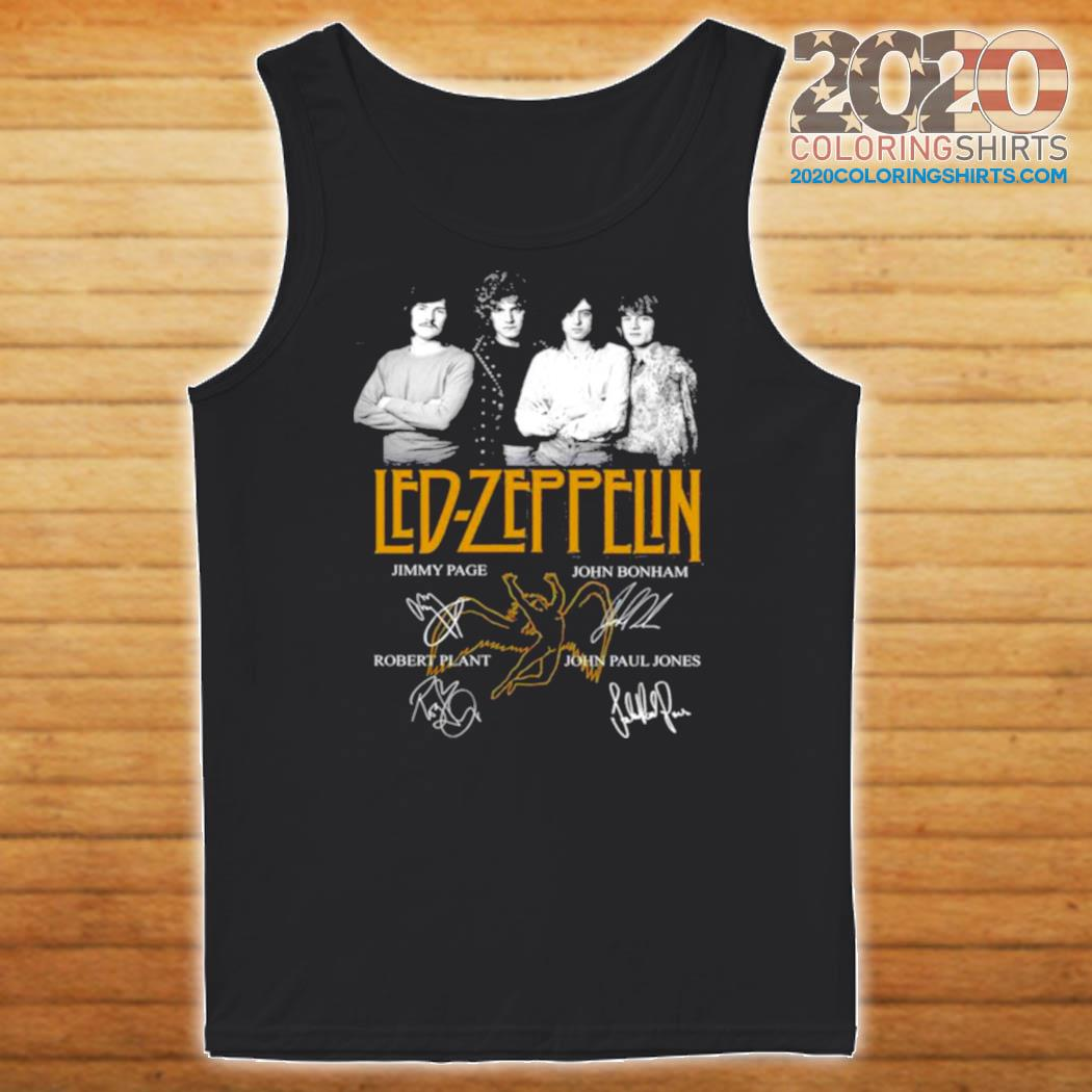 Led Zeppelin signatures s Tank top