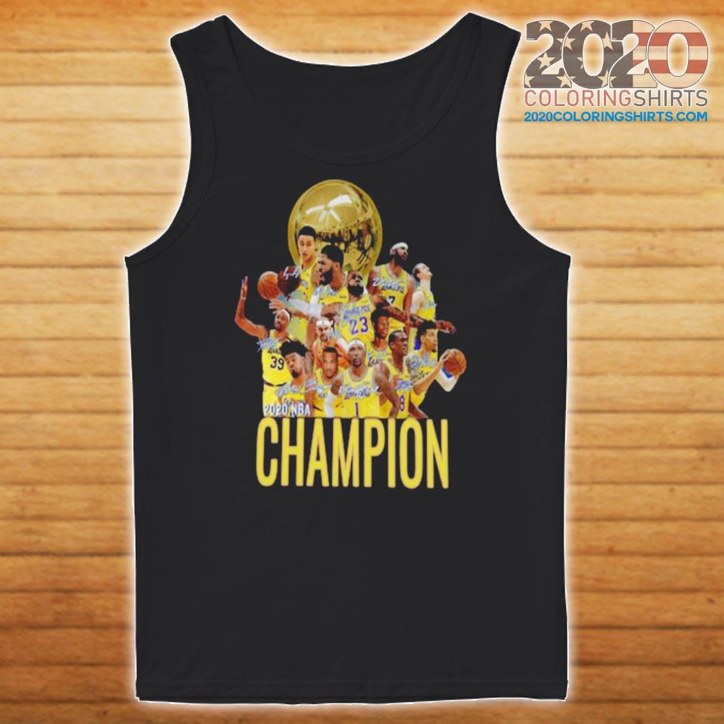 Los Angeles Lakers Champion 2020 NBA Signatures s Tank top