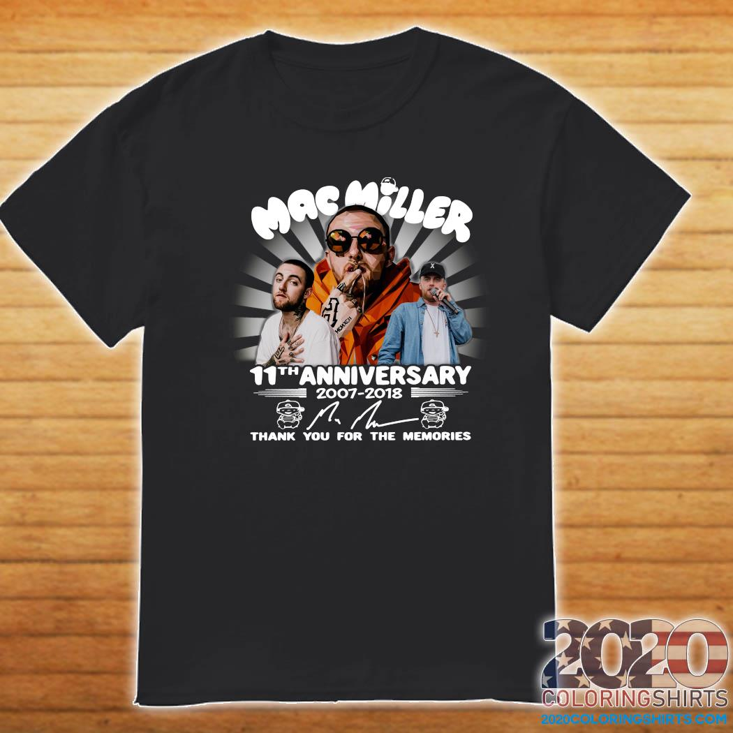 Mac Miller 11th Anniversary 2007 2018 Thank You For The Memories Signature Shirt