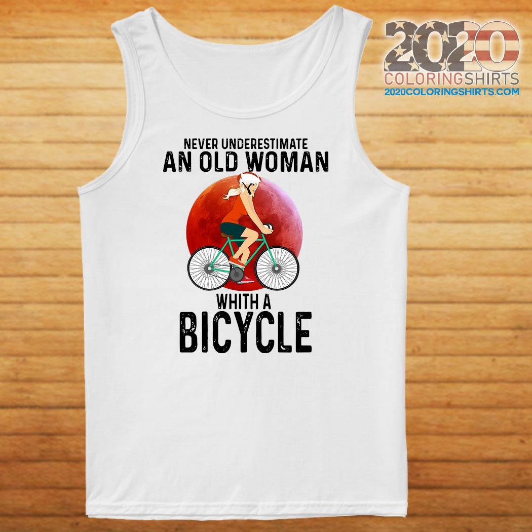 Never Underestimate An Old Woman With A Bicycle Shirt Tank top