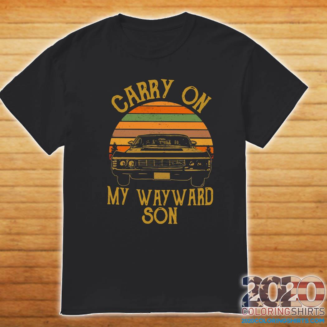 Official Carry On My Wayward Son 2021 Vintage Shirt