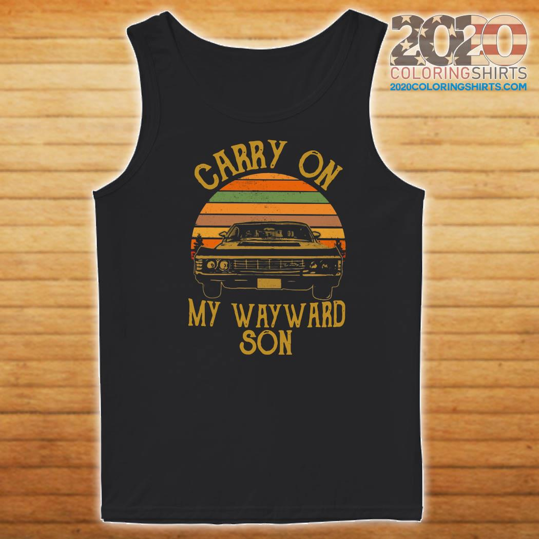 Official Carry On My Wayward Son 2021 Vintage Shirt Tank top