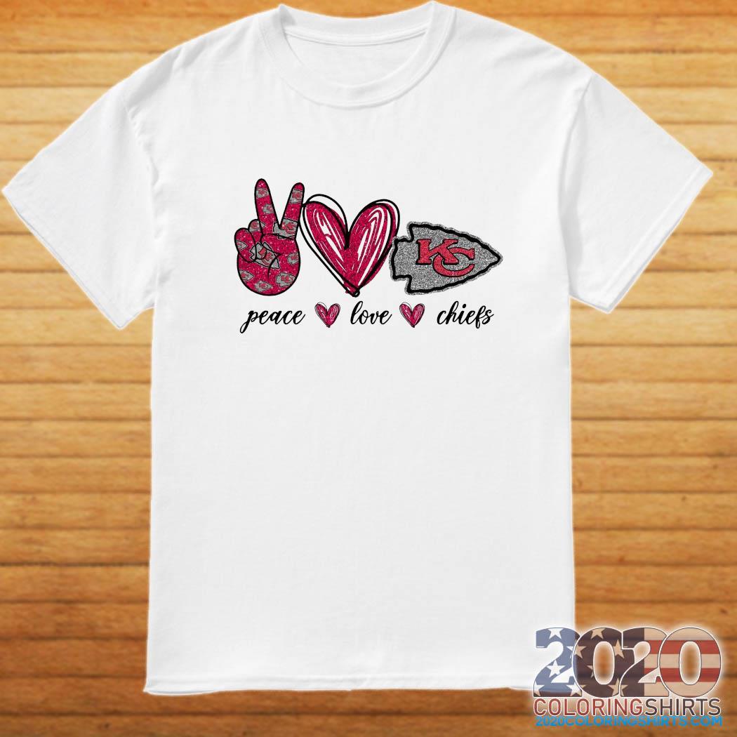 Official Diamond Peace Love And Kansas City Chiefs 2021 Shirt