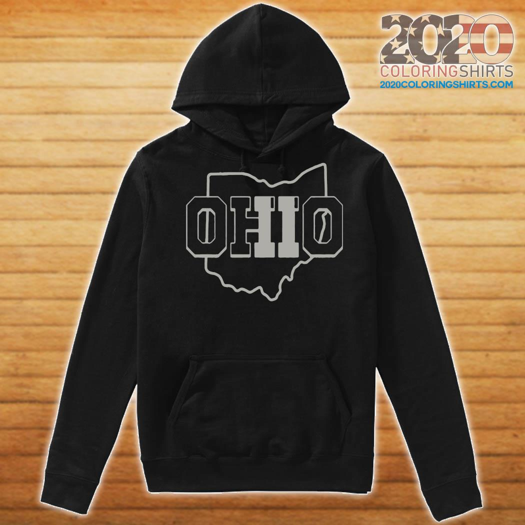 Official Ohio Map Shirt Hoodie