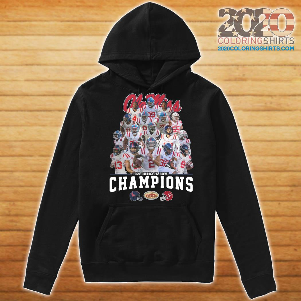 Ole Miss Football 2021 Outback Bowl Champions Shirt Hoodie