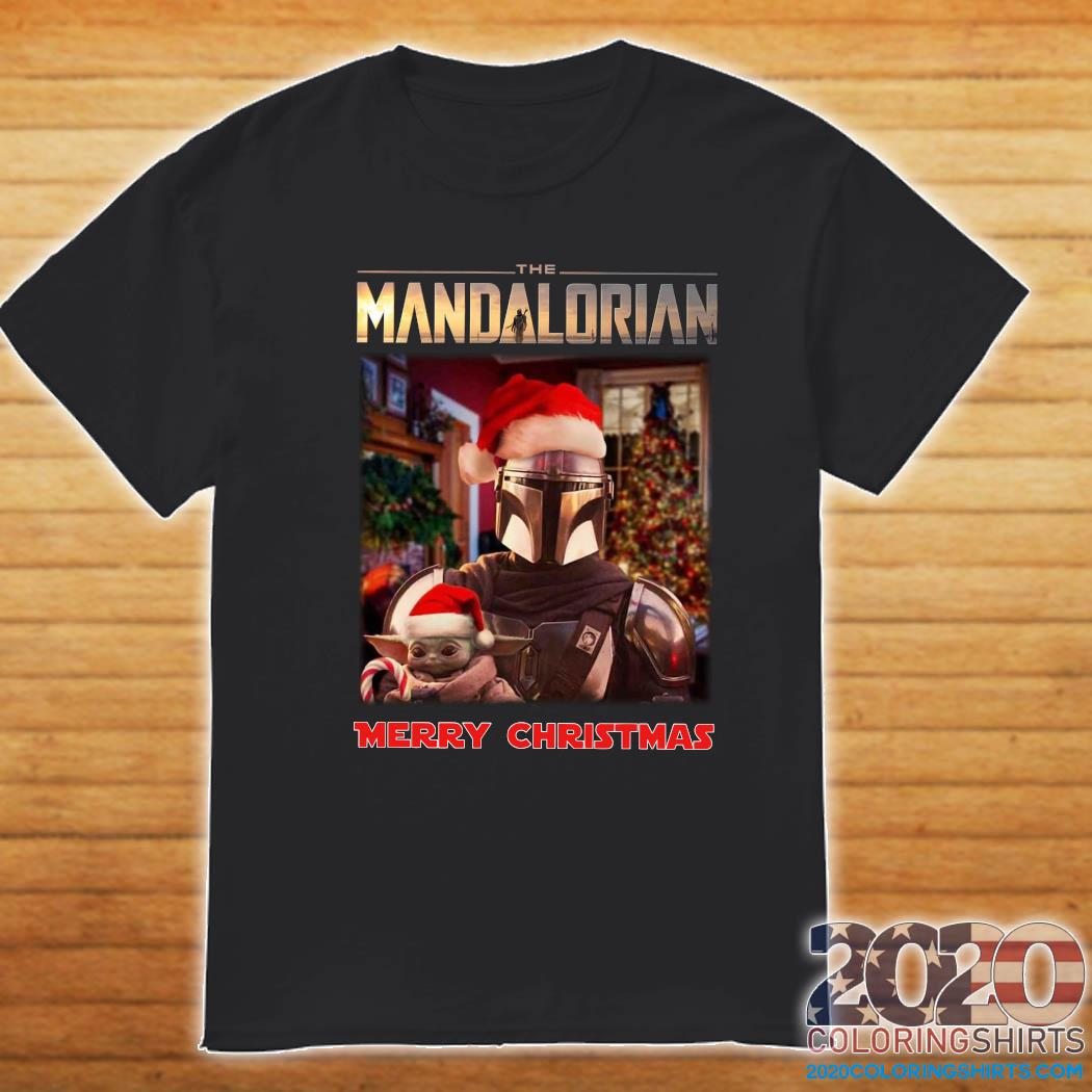 Star Wars The Mandalorian And Baby Yoda Merry Christmas Shirt