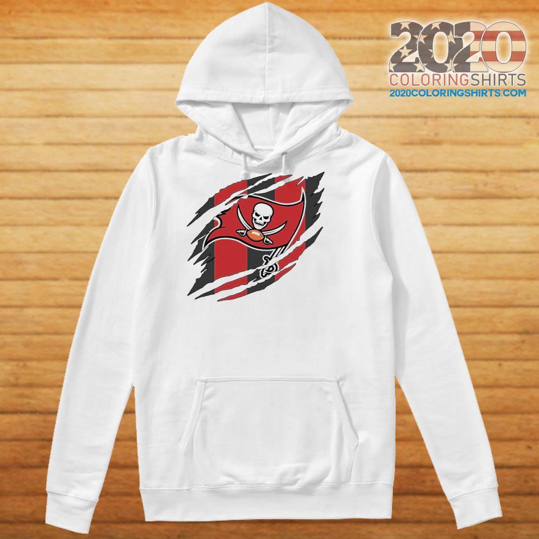 Tampa Bay Buccaneers Torn NFL,Buccaneers Football Team Classic T-Shirt Hoodie