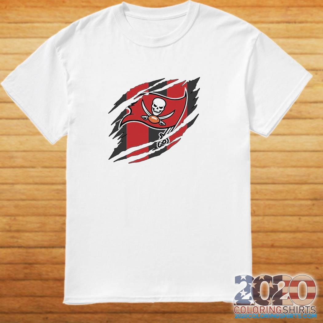Tampa Bay Buccaneers Torn NFL,Buccaneers Football Team Classic T-Shirt