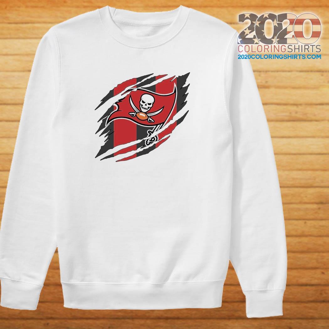 Tampa Bay Buccaneers Torn NFL,Buccaneers Football Team Classic T-Shirt Sweater