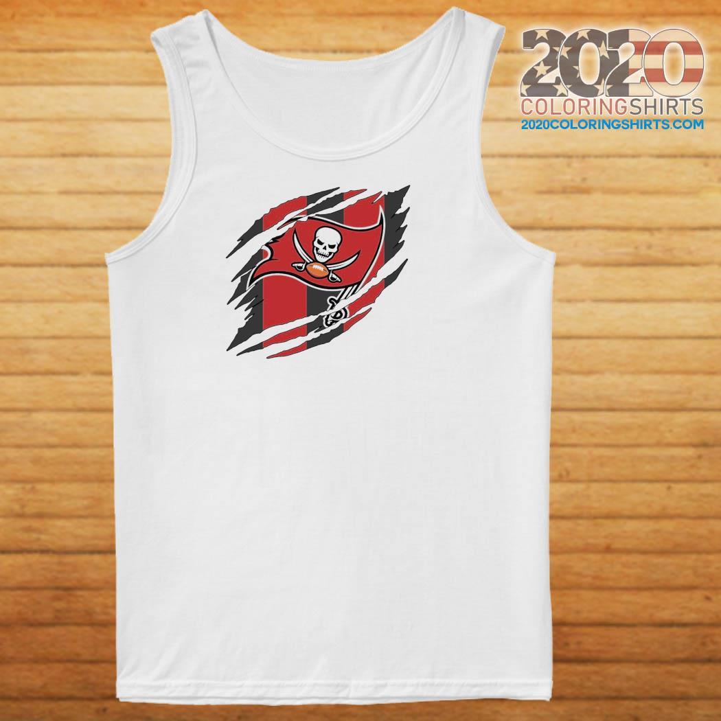 Tampa Bay Buccaneers Torn NFL,Buccaneers Football Team Classic T-Shirt Tank top