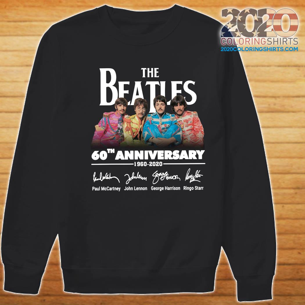 The Beatles 60th Anniversary 1960 2020 Signatures Shirt Sweater