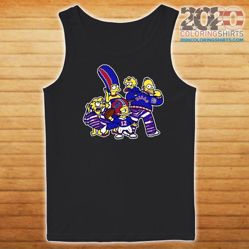 The Simpsons Buffalo Bills Football Shirt Tank top