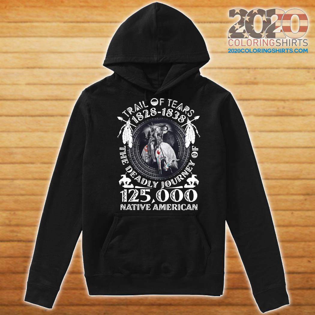 Trail Of Tears 1828 1838 The Deadly Journey Of 125,000 Native American Shirt Hoodie