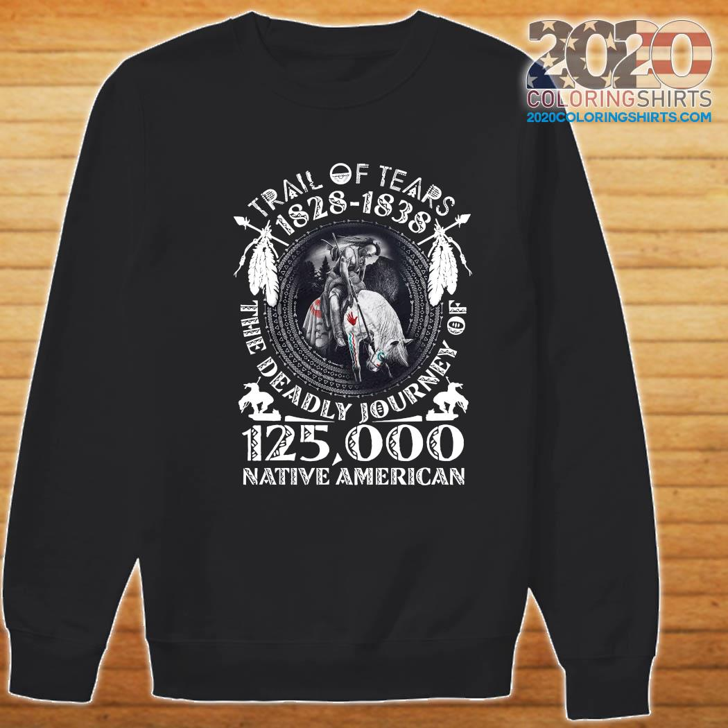 Trail Of Tears 1828 1838 The Deadly Journey Of 125,000 Native American Shirt Sweater