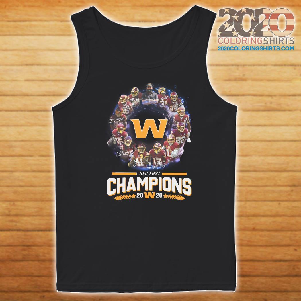 Washington Redskins Football Nfc East Champions 2020 Signatures Shirt Tank top