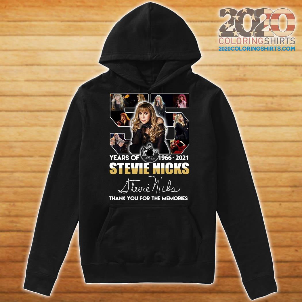 Official 55 Years Of Stevie Nicks 1966 2021 Signature Thank You For The Memories Shirt Hoodie