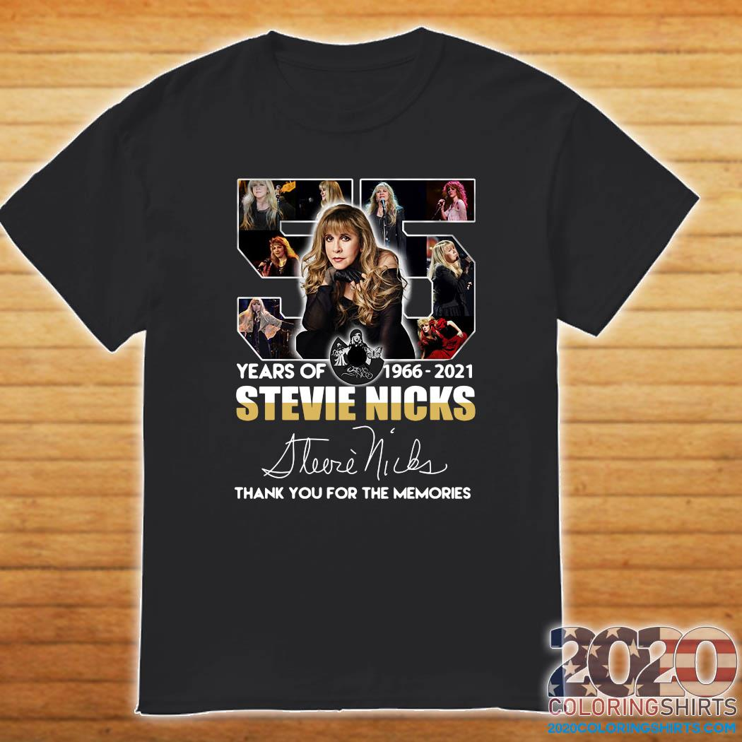 Official 55 Years Of Stevie Nicks 1966 2021 Signature Thank You For The Memories Shirt