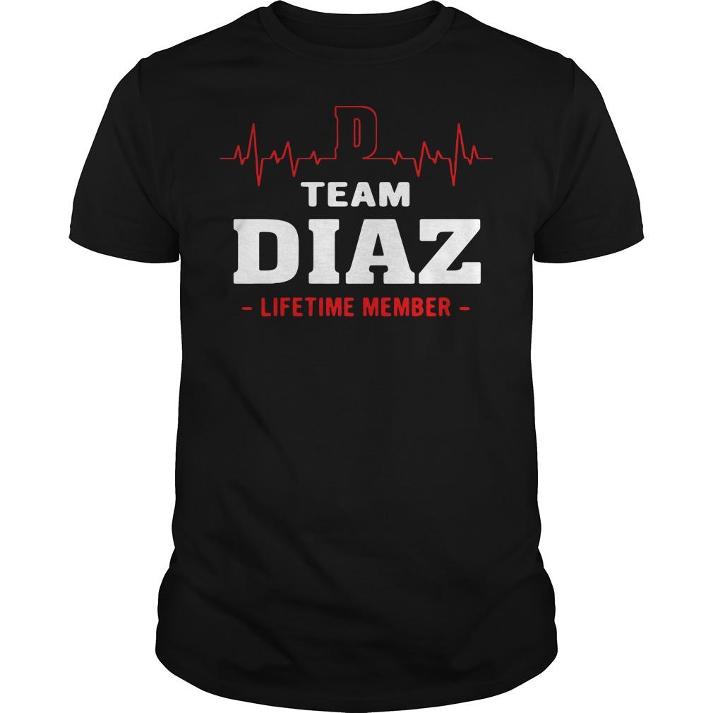 Team diaz lifetime member shirt