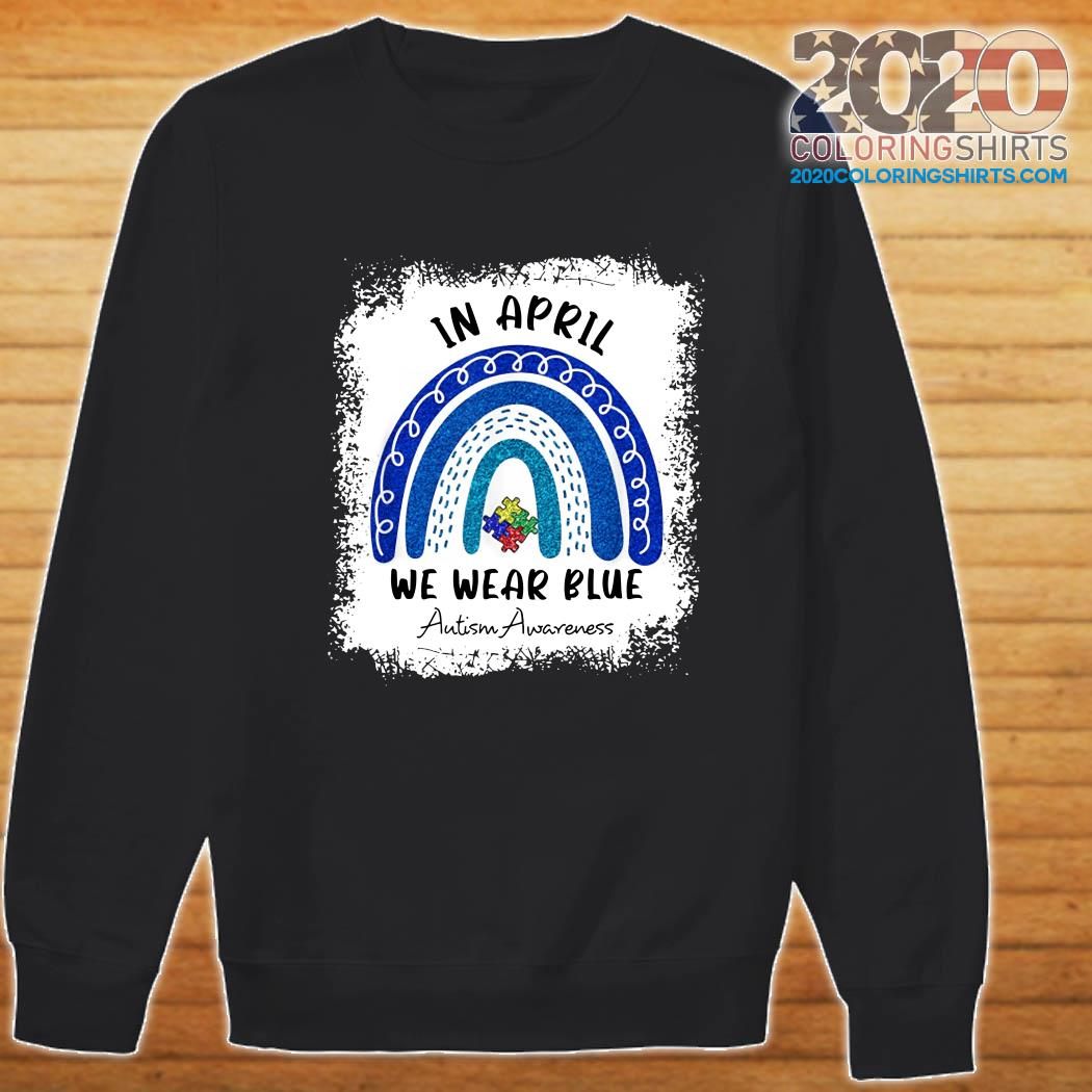 etc mug 1 PNG File can be printed on shirt Blue Rainbow Autism- In April We Wear Blue Autism Awareness PNG